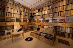 Warning: Contains thousands of records. A rare visit to free jazz heavyweight Mats Gustafsson& extraordinary two-and-a-half tonne vinyl cave. Record Shelf, Vinyl Record Storage, Record Display, Free Jazz, French Door Sizes, Cd Storage, Storage Ideas, Vinyl Room, Audio Room