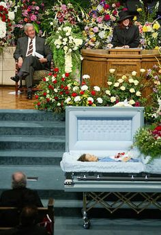 June Carter Cash Funeral 2003 look at poor Johnny on the first pew