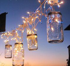 Mason Jar Icicle Lights Garland