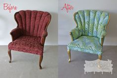upholstered chair before and after - Google Search