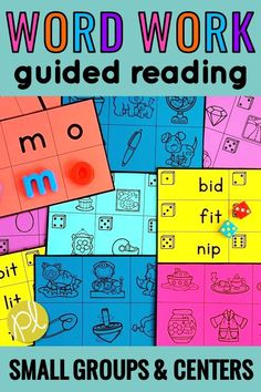 Print once and you have your word work centers ready for the entire school year! I use Daily 5 in Guided Reading and these literacy activities are perfect for practice in small groups and then move to centers. Low prep - print, cut, and add dice! #wordwork #dailyfive