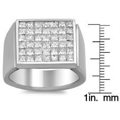 Artistry Collections 18k White Gold Men's 2 3/5 ct TDW Diamond Ring (E-F, VS1-VS2)