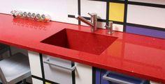 red+quartz+countertop | American Contractors : Quartz Caesarstone countertops #contempo