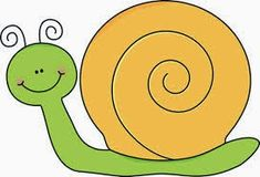 Green and Yellow Snail Clip Art - Green and Yellow Snail Image