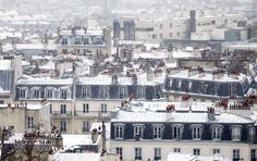 Paris has been issued a warning about dangerous winter conditions as temperatures plummet.