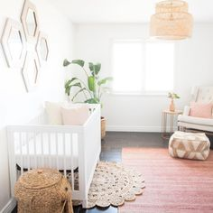 Bring your baby girl home to an adorable and functional nursery. Here are some baby girl nursery design ideas for all of your decor, bedding, and furniture. Baby Bedroom, Nursery Room, Girl Nursery, Girl Room, Girls Bedroom, Nursery Decor, Nursery Ideas, Project Nursery, Bedroom Ideas