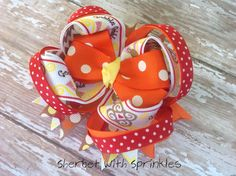 Thanksgiving Layered Hair Bow Fall Hair by sherbetwithsprinkles, $7.25