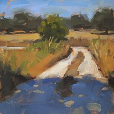 "Carol Marine's Painting a Day: ""Country Driveway"" - SOLD"