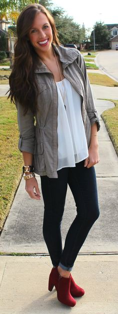 Tank: DaintyHooligan  (similar option)   Jacket: Tillys (similar)   Jeans: Paige Denim via Nordstrom   Booties: UrbanOg   ...