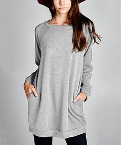 Another great find on #zulily! Heather Gray Scoop Neck Tunic #zulilyfinds