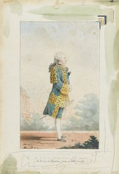 Louis Carrogis dit Carmontelle (Paris 1717 – 1806), Le duc de Chartres en habit de Villers-Cotterêts