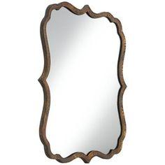 "Girls Bathroom mirrors? Uttermost Spadola 30"" High Hammered Copper Wall Mirror-238"