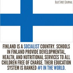 "Exactly why are we supposed to fear socialism? For the non-rich it seems like a good thing. Finland has only 35 million citizens. Most live in the smaller cities and villages. Finnish people have historically depended on eachother for all their needs due to the harsh climate. Their version of ""socialism"" is nothing like that promoted by western/latino tyrants. I know because I'm Finnish."