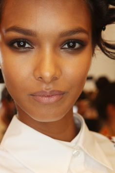 We loved the smokey, bold eyeliner mixed with a nude lip at DVF -- it feels so fresh for spring! Diane Von Furstenberg Spring/Summer 2015 via @stylelist | http://aol.it/1q8A7gK