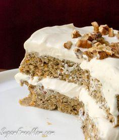 low car carrot cake mug cake- grain free, gluten free, sugar free!- http://sugarfreemom.com