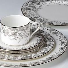 Enjoy unique dinnerware and flatware patterns by Marchesa and other America's top designers. Browse Marchesa dinnerware products created exclusively for Lenox. Marchesa, Bone China Dinnerware, Lenox China, China Sets, Coffee Set, Dinner Sets, China Patterns, French Lace, Fine China