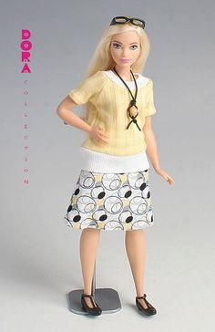 Barbie clothes for curvy barbie 4piece spring by DoraCollection