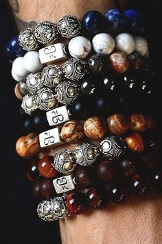 Premium Beaded Bracelets by The Aurum Brothers• Handcrafted in the netherlands • 925 Silver handmade Beads • Thick 24kt Gold Plating Check out the entire collection here ! #men'sjewelry