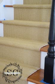 StoneGable: STAIR MAKEOVER... ADDING A NATURAL LOOKING RUNNER