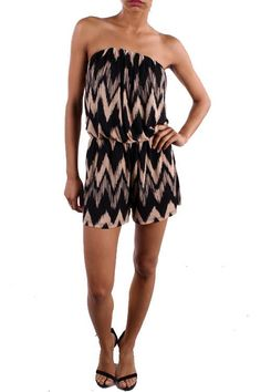 ℒᎧᏤᏋ this casual chic Chevron Strapless Slinky Romper!!!! ღღ