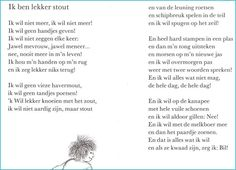 Ik ben lekker stout - Annie M. Schmidt, Rhymes For Kids, Self Compassion, Stories For Kids, Word Art, Spelling, Life Lessons, Annie, Childrens Books