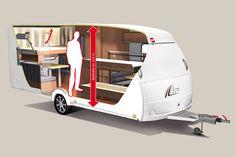 Averso Plus – der erste Caravan mit Hubbett-Bürstner