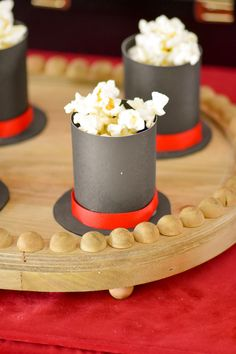 With only a few basic supplies, you can create magic with this Magic Hat Popcorn Cup Tutorial for your next magic party. Here at Kara's Party Ideas! Circus Carnival Party, Circus Theme Party, Carnival Birthday Parties, Circus Birthday, Birthday Party Themes, Circus Wedding, Carnival Costumes, Magician Cake, Magician Party