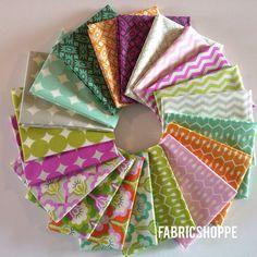 ENTIRE LINE SALE True Colors Fabric Bundle by Heather Bailey -Fat Quarter bundle, 20 total on Etsy, $54.00