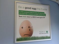 Text-to-donate train poster for the NSPCC (another one of @on_agency's)