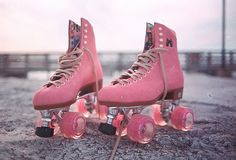 ピンクのスケート