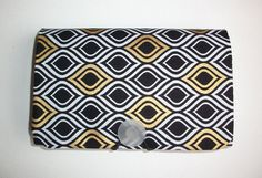 COUPON  Organizer  Holder  Keeper  black metallic gold by Laa766 Coupon clipping / fabric / patterned / holders / budget / inserts / grocery / receipt files / folder / gifts
