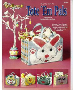 Tote Em Pals Plastic Canvas Patterns The by grammysyarngarden, $5.00