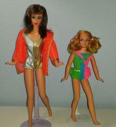 1970 Dramatic New Living Barbie and Skipper