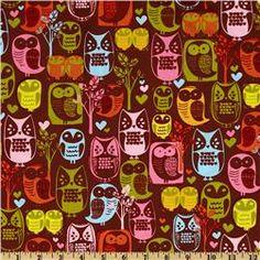 Woodlands Owls Woodstock Brown