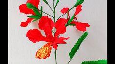 Paper Flower Gulmohar Delonix regia (flower # 149)
