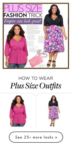 """""""Plus size fashion trick- empire cut"""" by budding-designer on Polyvore featuring NY Collection, Chanel and plus size clothing"""