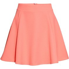 H&M Circular skirt ($20) ❤ liked on Polyvore featuring skirts, mini skirts, faldas, apricot, mini circle skirt, circle skirt, h&m, short skirts and elastic waist skirt
