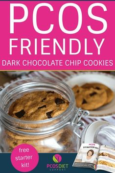 PCOS Friendly chocolate chip cookie recipe, made with dark chocolate chips, coconut, tapioca flour or starch. It's dairy free, gluten free and perfect for a sweet snack or dessert. Chocolate Chip Cookies, Dark Chocolate Chips, Hot Chocolate, Cake Pops, Pcos Diet Plan, Healthy Snacks, Healthy Recipes, Scd Recipes, Eat Healthy