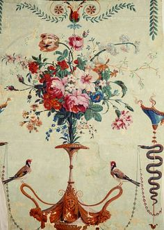 Jean Baptiste Fay wallpaper from late 1700s.