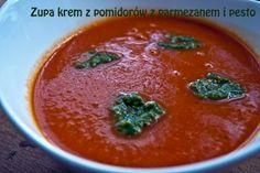 Zupa krem z pomidorów z parmezanem i pesto