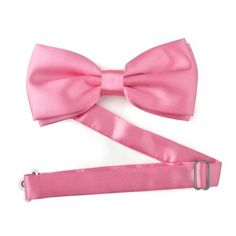 TopTie Mens Pretied Satin Tuxedo Pink Bowtie Bow Tie, Breast Cancer Awareness Color