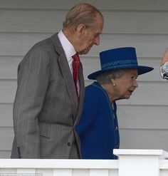 Royal show: The Queen attended the final day of the annual event with the Duke of Edinburgh just a day after celebrating her official birthd...
