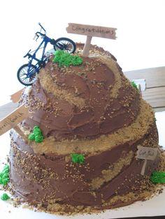 Mountain biking cake, idea for Eric's birthday