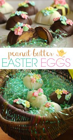 Growing up we always looked forward to Easter because mom would make us these beautiful and delicious chocolate peanut butter easter eggs! #peanutbuttereggs #chocolateegg