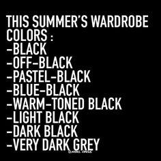 Summer's wardrobe... Black