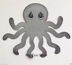 PREMADE MARINE PAL OCTOPUS ANIMAL PAPER PIECING BY MY TEAR BEARS KIRA