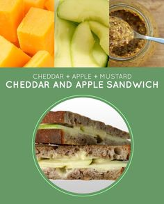 Cheddar and Apple Sandwich | 15 Meatless Lunch Sandwiches That Kids Will Love