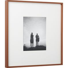 Shop gallery copper picture frames with white mats.   Exhibit your favorite photos gallery-style.  Creating a display of modern proportions, oversized white mat floats a single photo within a sleek frame of copper-finished aluminum.