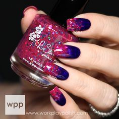 Glitter Jelly Gradient with KBShimmer Summer 2014 Polishes