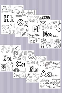 Alphabet coloring pages that you can print from home. Free printables for learning preschool and kindergarten phonics, letter recognition, and letter sounds. Preschool activity to keep your kids busy. Preschool Phonics, Preschool Color Activities, Preschool Prep, Letter Activities, Free Preschool, Preschool Printables, Free Printables, Preschool At Home, Work Activities